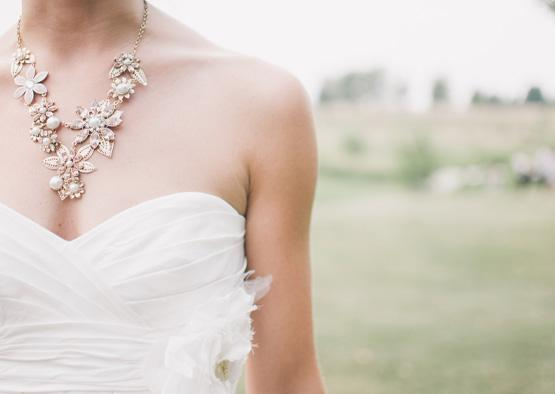 Bride wearing vintage Necklace