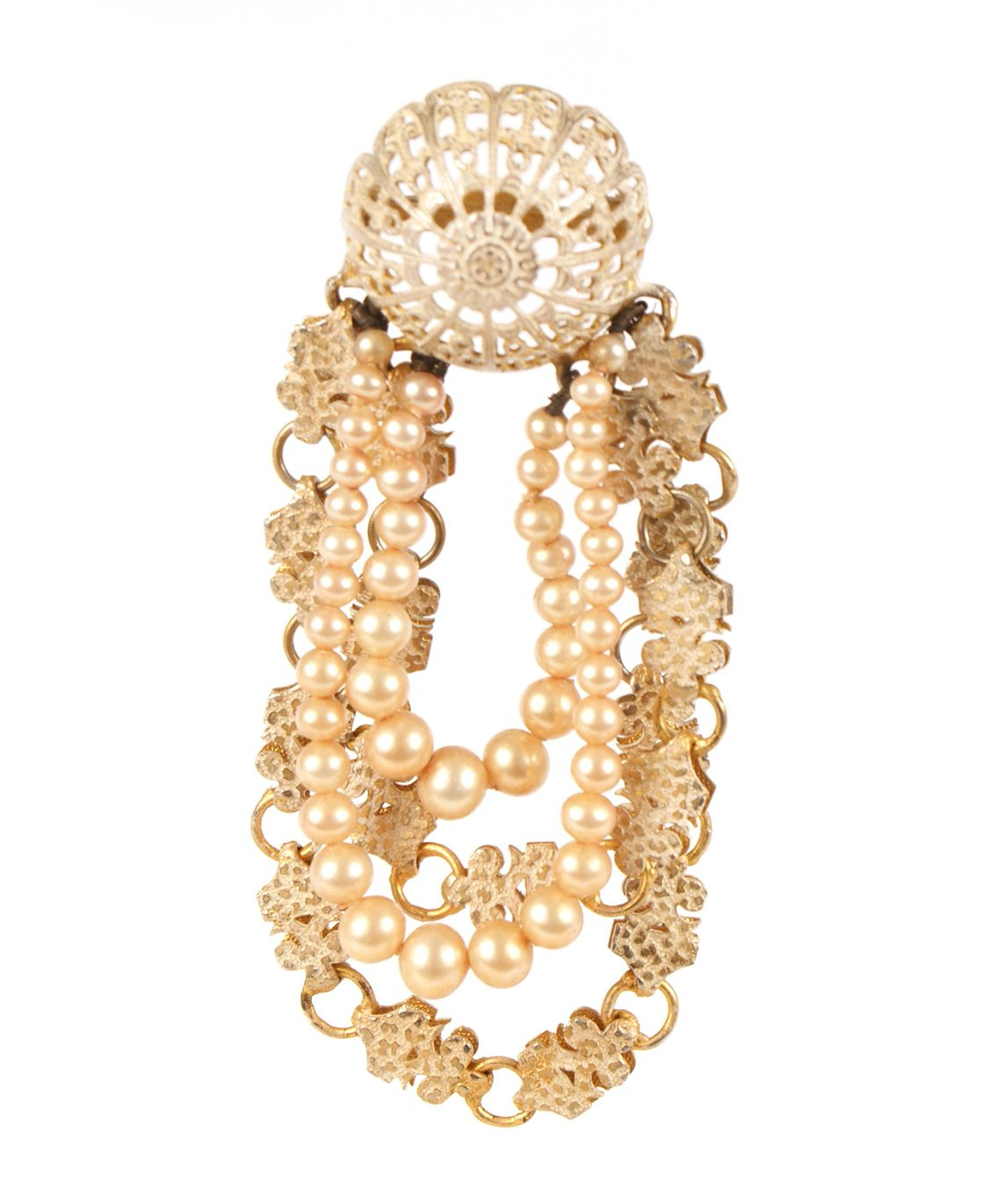 Mitchel Maer for Christian Dior pearl brooch pin