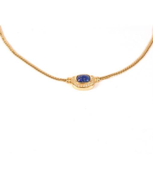 Christian Dior necklace lapis lazuli stone
