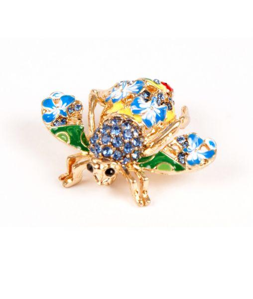 Joan Rivers Bee Brooch in blue