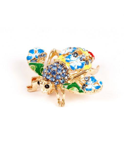 Joan Rivers Bee Brooch with blue enamel