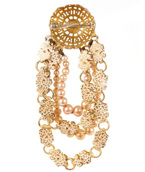 Maer for Dior brooch pin reverse