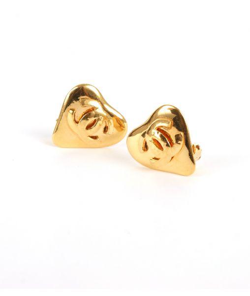 Chanel heart earrings 1993