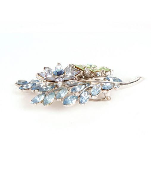Blue crystal brooch by Trifari