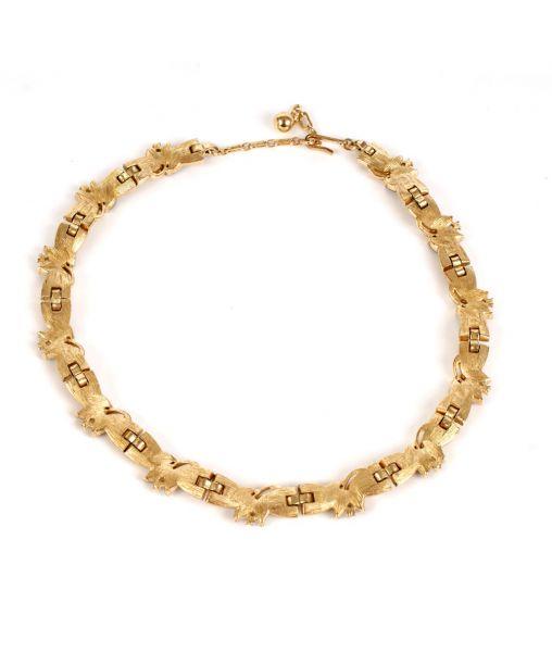 Trifari 1950s necklace reverse