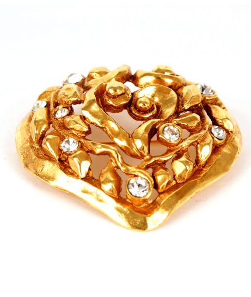 Lacroix Christmas heart brooch
