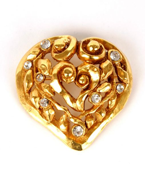 Christian Lacroix Heart Brooch 1991
