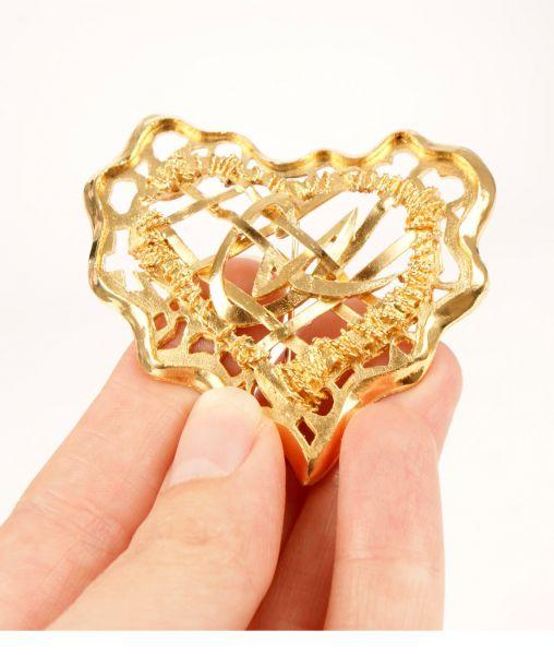 Christian Lacroix CL heart brooch