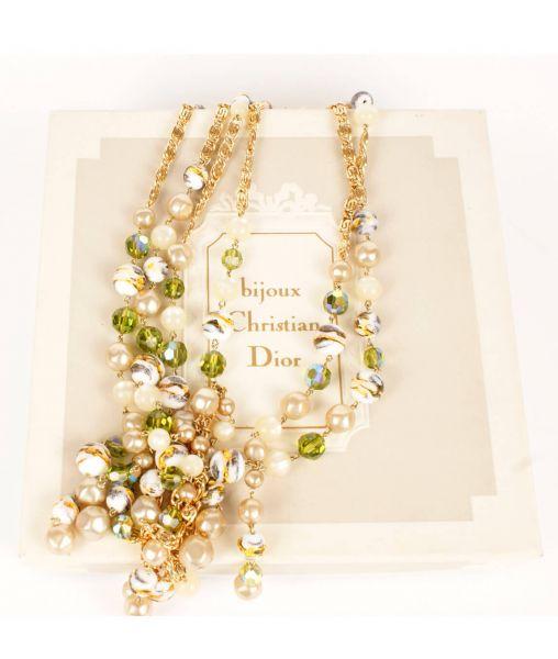 Vintage Dior Beaded Necklace 1961
