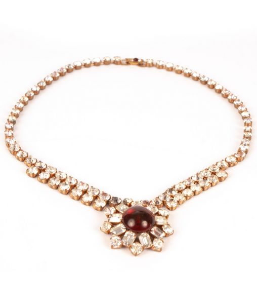 Vintage Schoffel Ruby Necklace